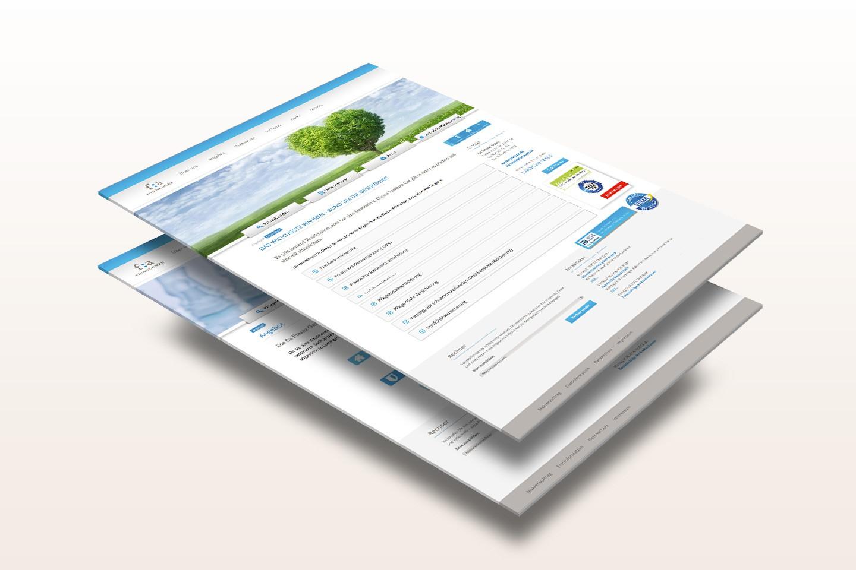 f:a Finanz GmbH - Webseite