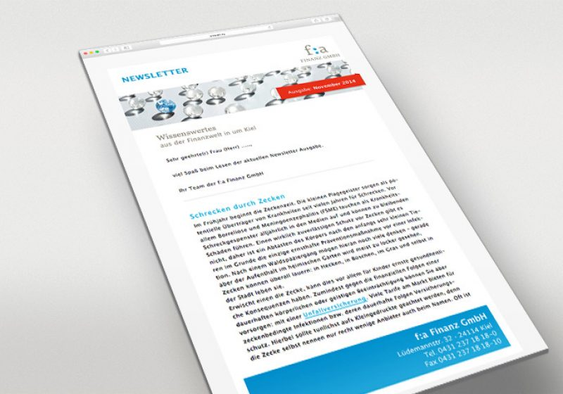f:a Finanz E-Mailing Template
