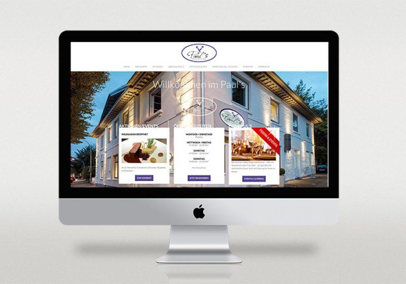Responsive Webseite für Paul's Restaurant
