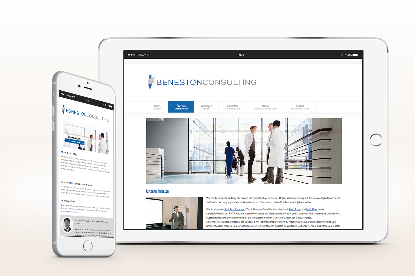Beneston Consulting Arne Ballies | Responsive Webseite