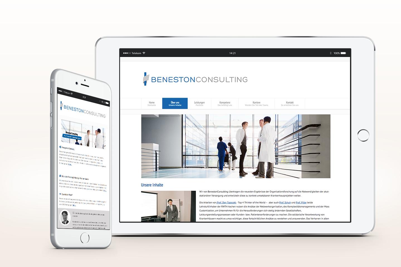 Beneston Consulting Arne Ballies | Responsive Webseite