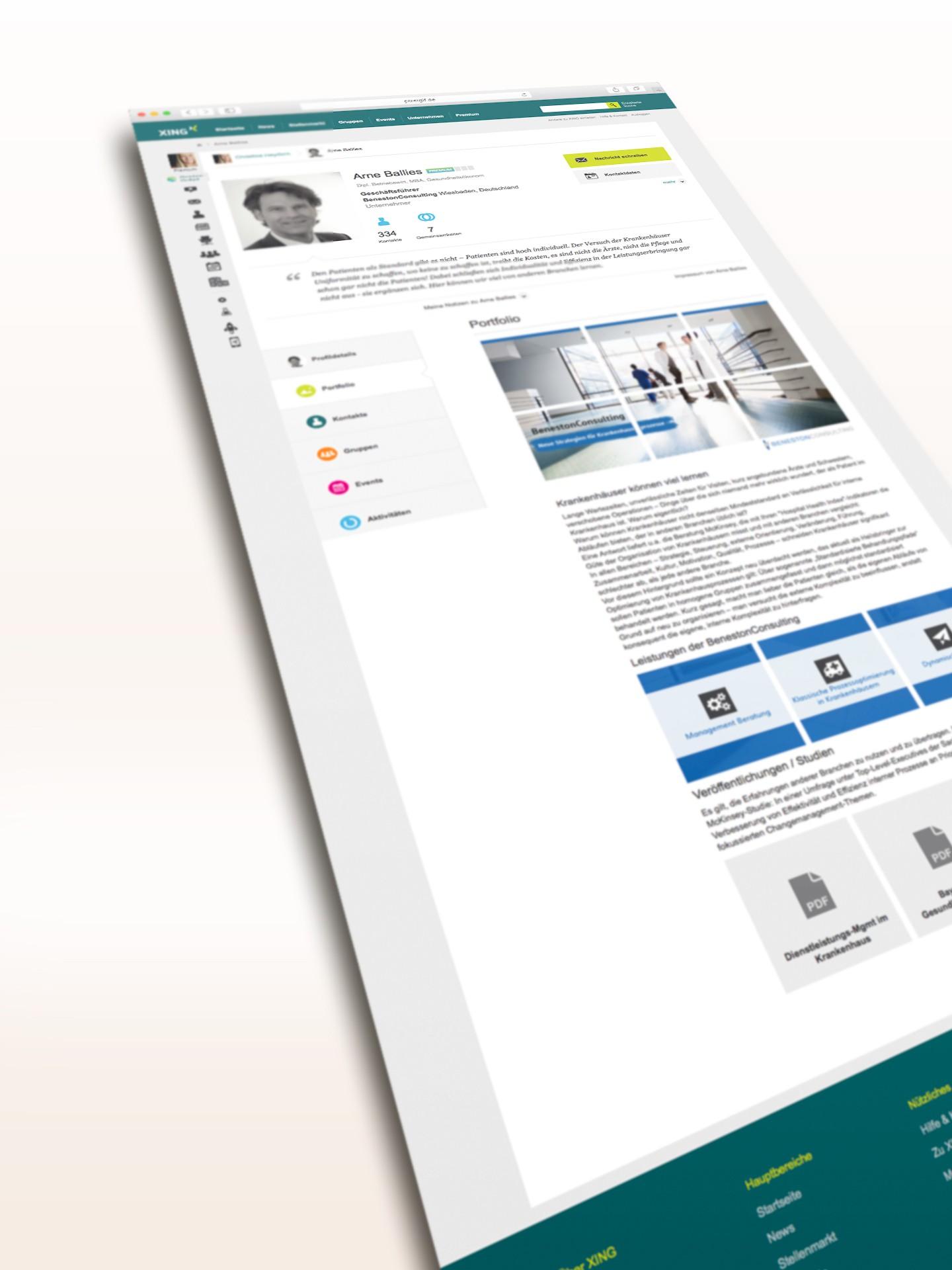 Beneston Consulting |Arne Ballies XING Portfolio 01