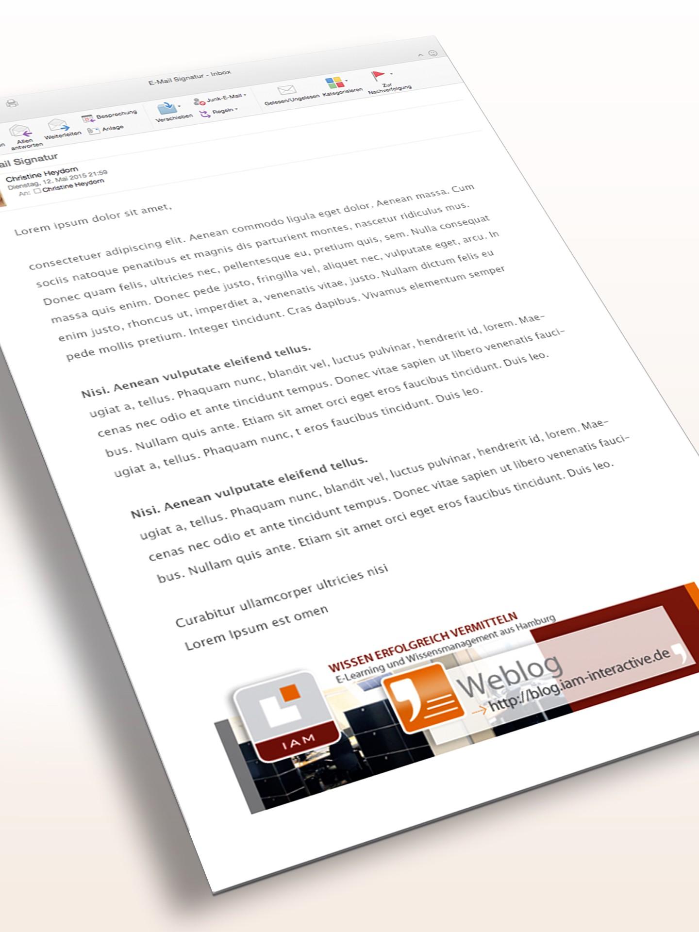 IAM - E-Mail Signatur Blog