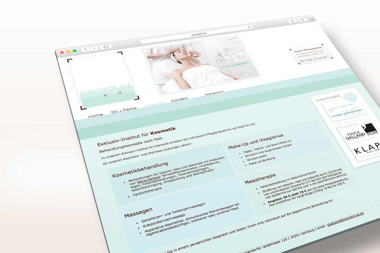 Webdesign Kosmetikstudio in Hamburg Eppendorf