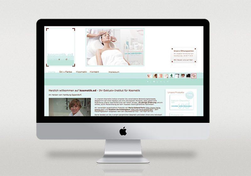 Webseite kosmetik.ed