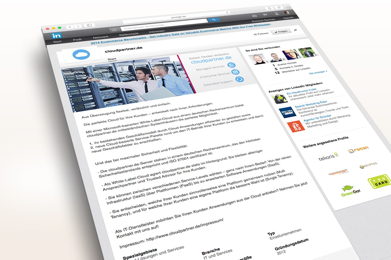 Cloudpartner Linkedin Unternehmensprofil