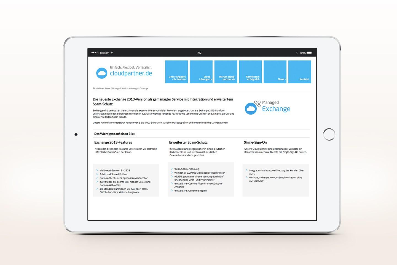 Cloudpartner Webseite