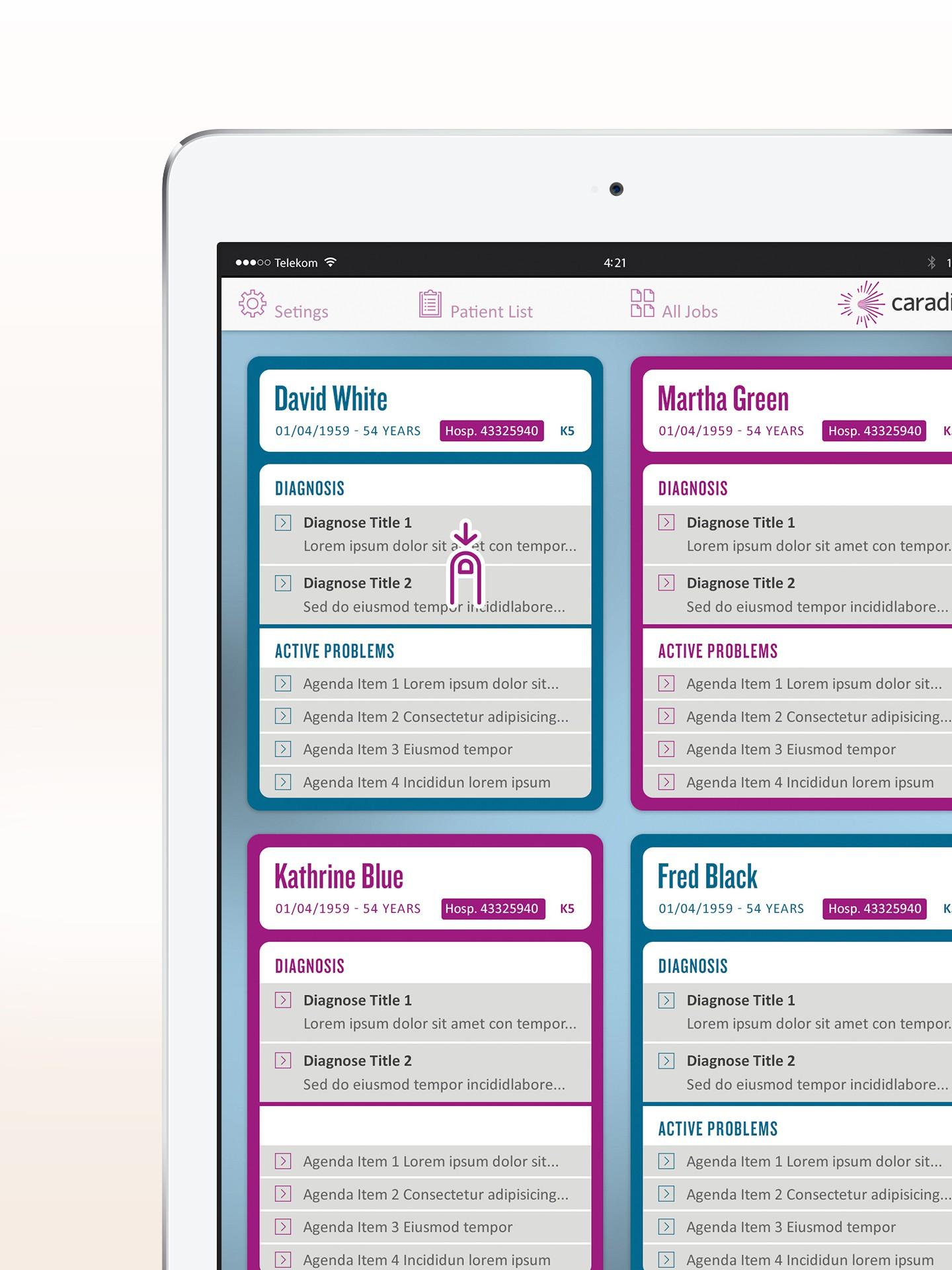 iPad Mini App für die Krankenhausvisite