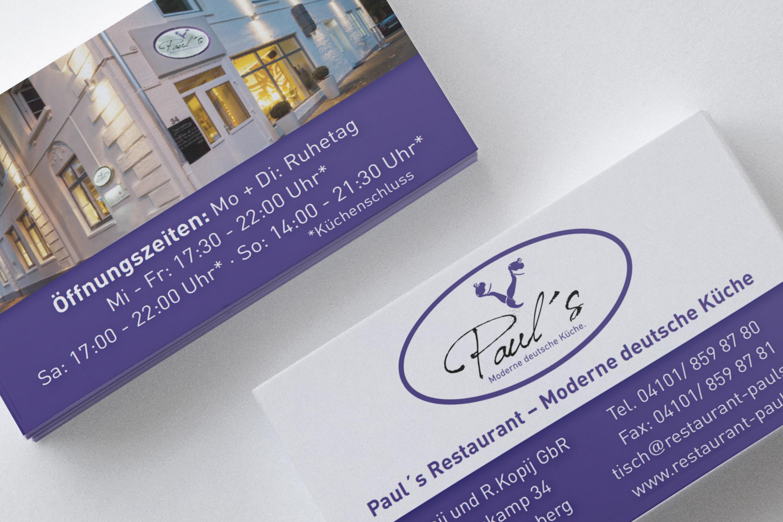 Paul's Restaurant Visitenkarten