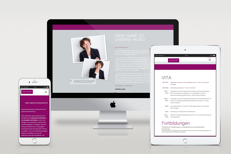 Sabrina Mund Onepager Webseite