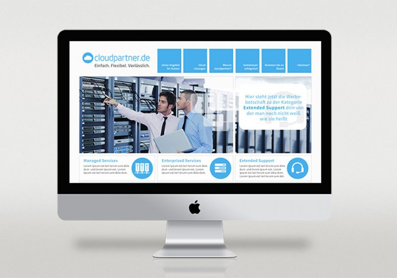 Auxo Cloudpartner Responsive Webseite