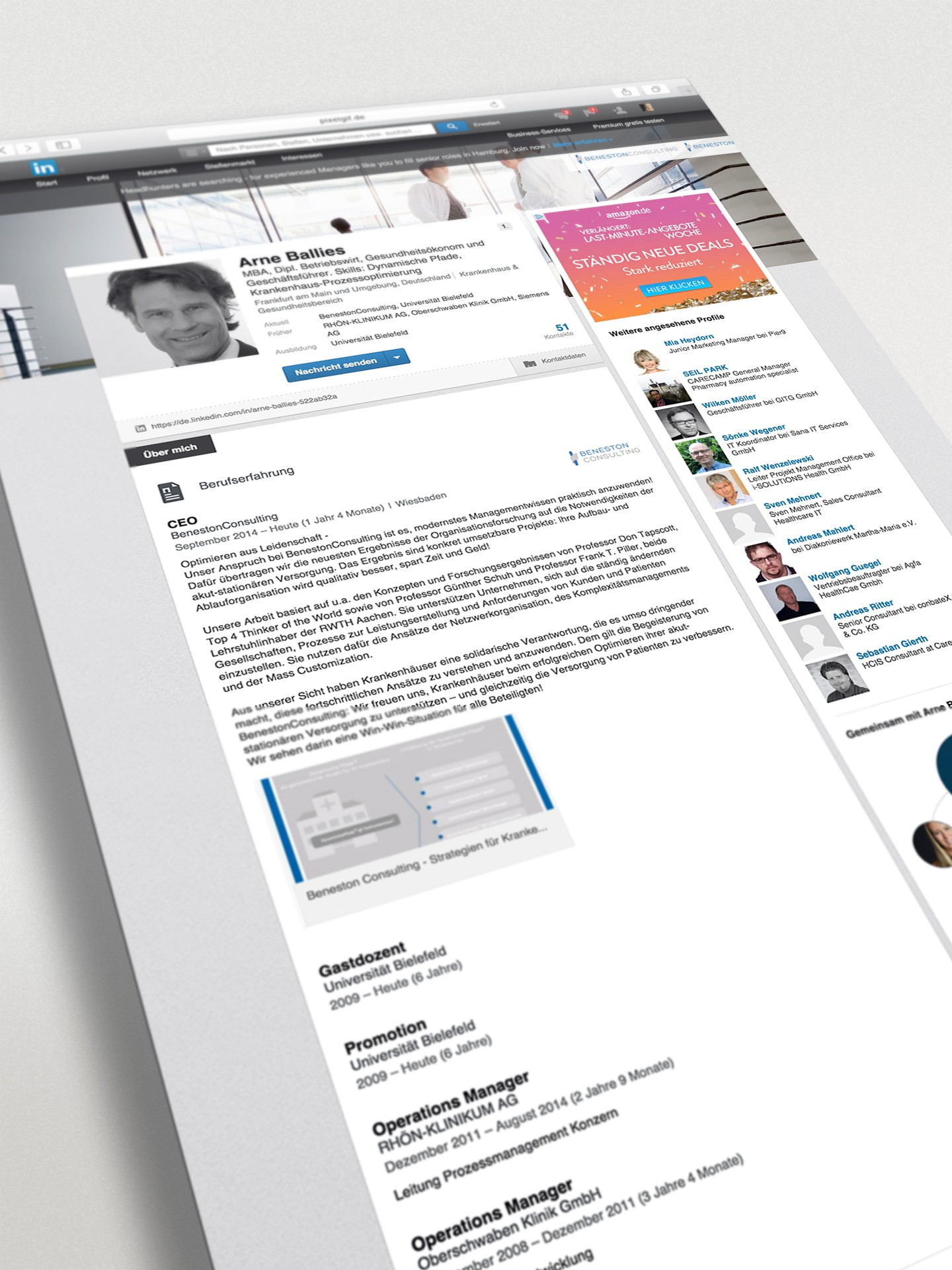 BenestonReseach Social Media Auftritt LinkedIn Profil