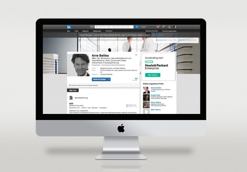 LinkedIn Profil Arne Ballies
