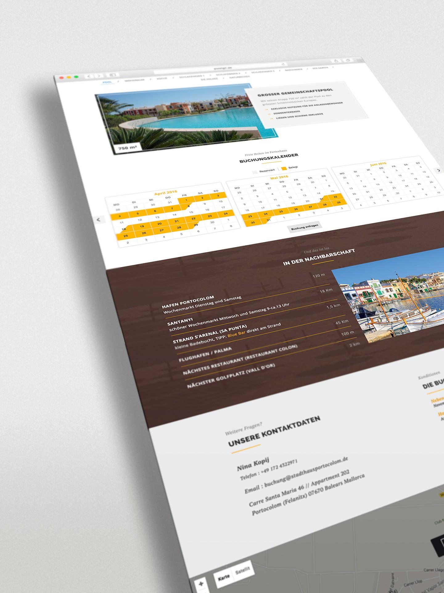 Stadthausportocolom Webseite PIXELGIF Referenz