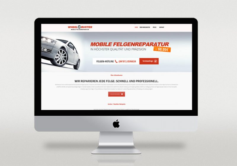 Wheelbuster Responsive Webseite - Homepage